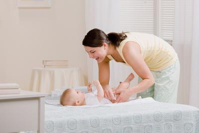 Bebin plač prilikom presvlačenja